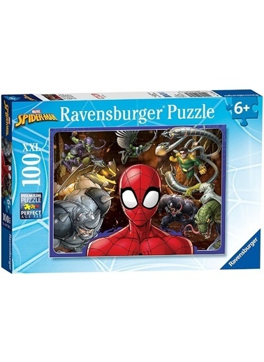 Ravensburger 100 Parça Puzzle Spiderman 107285 Renkli